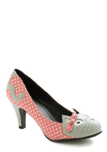 Meows The Time Heel In Pink Womens Shoe Pump
