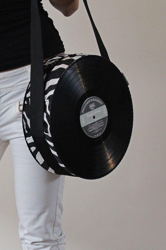 Vinyl Record Handbag / Purse / Bag / Retro / Vintage / One of a kind