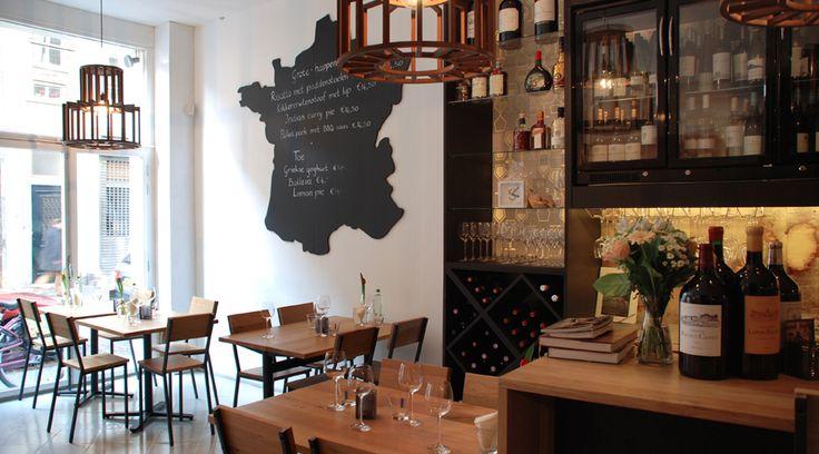 CAFE INTERIOR DESIGN by BLOK. concept development and interior design for a new Winebar in Den Bosch, modern and stylish look #cafe #interior #modern #stylish ------------- INTERIEURONTWERP CAFE van BLOK. concept en interieur ontwerp voor een nieuwe wijnbar in Den Bosch, met handgemaakte tafels en stoelen, prachtige verlichting en een unieke bar #design #interieur #bar #tijdloos