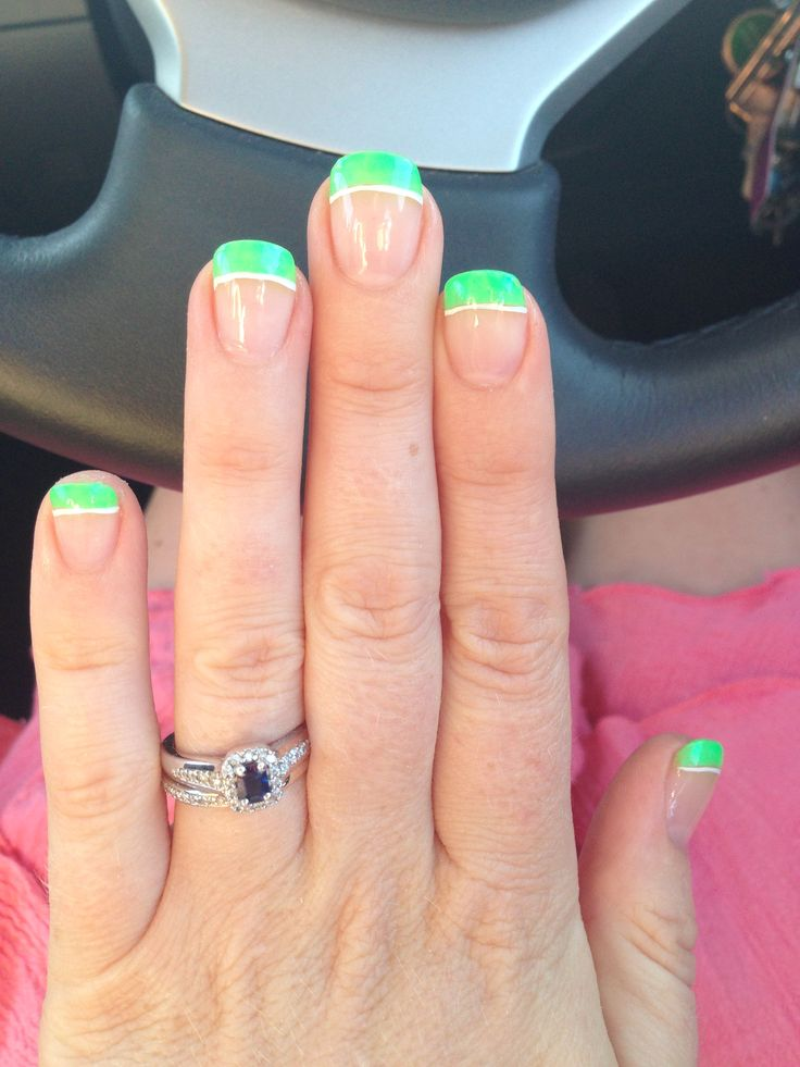 John Deere green nail tips