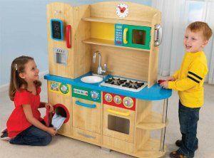 KIDKraft Pretend Play Cook Together Top Chef Kitchen 53186