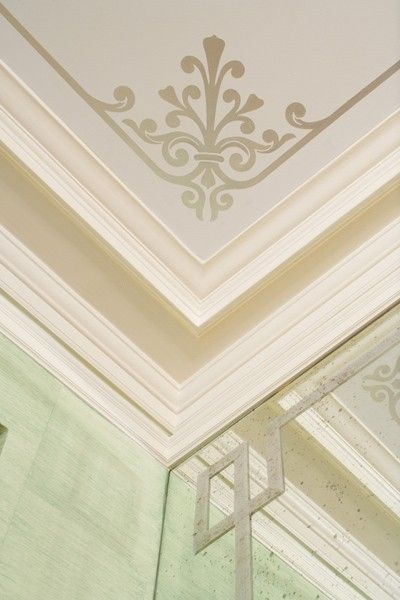 Ceiling and Crown Molding Detail ~ Sara Gilbane Interiors. This would add such a glamorous touch to my dream closet.