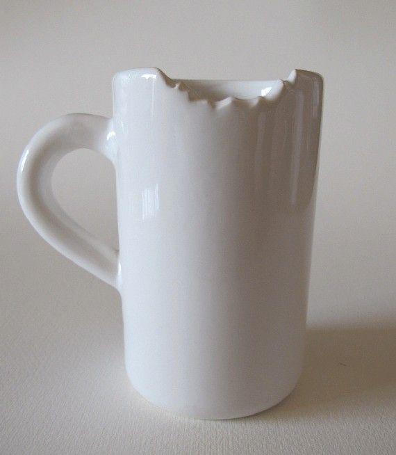 NEED COFFEE NOW!!!! Bitten coffee mug :))