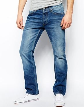 $73, Jack Jones Slim Fit Jeans by Jack and Jones. Sold by Asos. Click for more info: http://lookastic.com/men/shop_items/136948/redirect