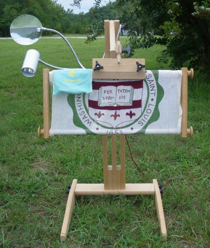 Adjustable Needlework Frame Holder Floor Stand W Frame Light And Magnifier My Online Stores