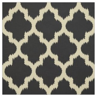 Quatrefoil Ikat Fabric for Upholstery, Quilting, & Crafts | Zazzle