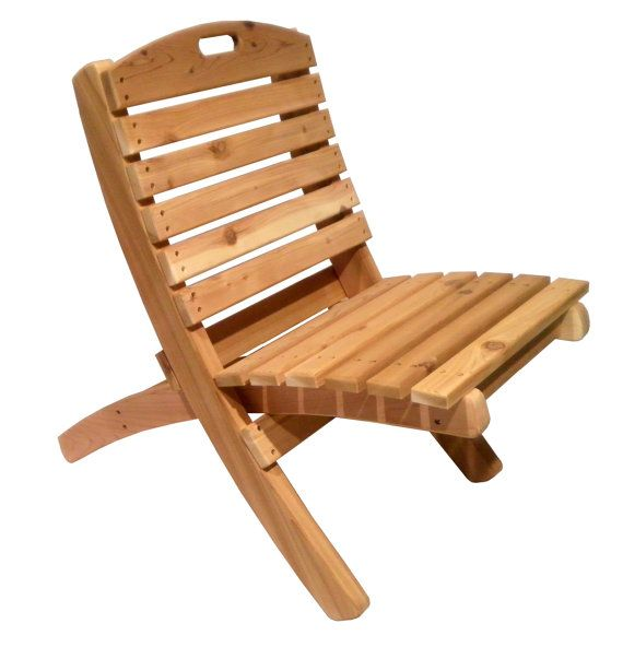 Two-piece Outdoor Patio Chair | Western Red Cedar Wood // Solid ...