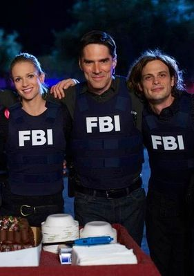 A.J. Cook, Thomas Gibson & Matthew Gray Gubler | Criminal Minds Celebrate…