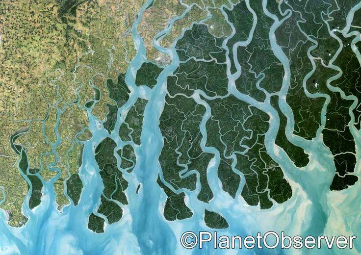 Ganges delta, India and Bangladesh – PlanetSAT satellite image