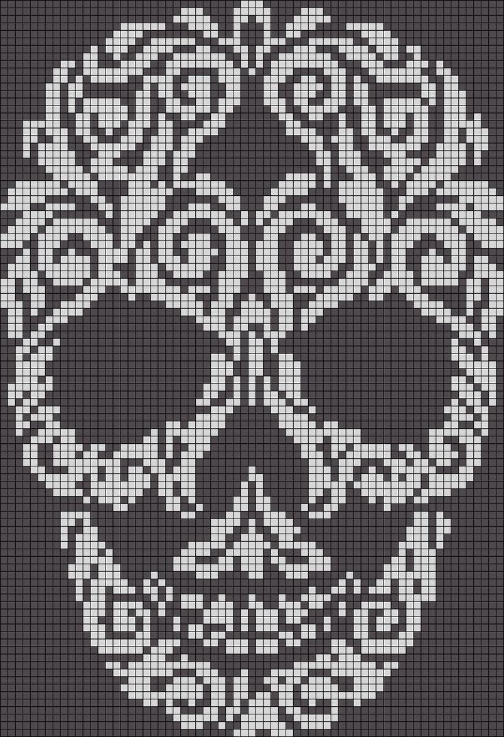 75 Best Cross Stitch Skulls Images On Pinterest
