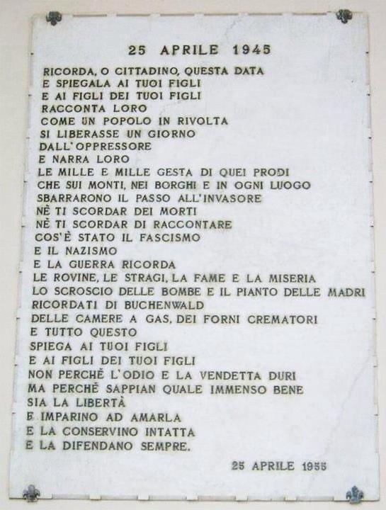 25 Aprile, Giorno della Liberazione d'Italia