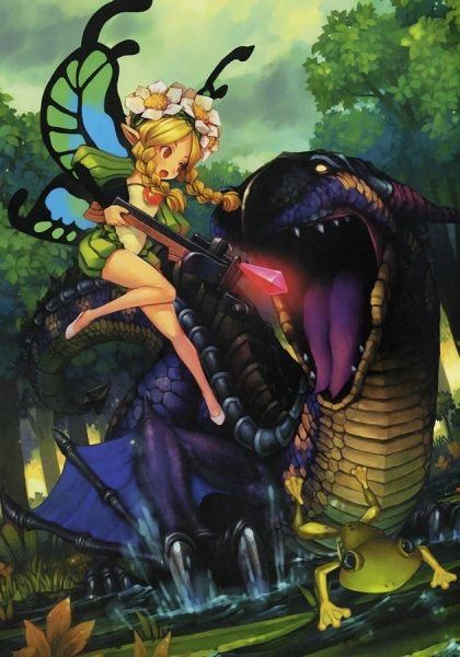 Mercedes Illustration - Odin Sphere Concept Art