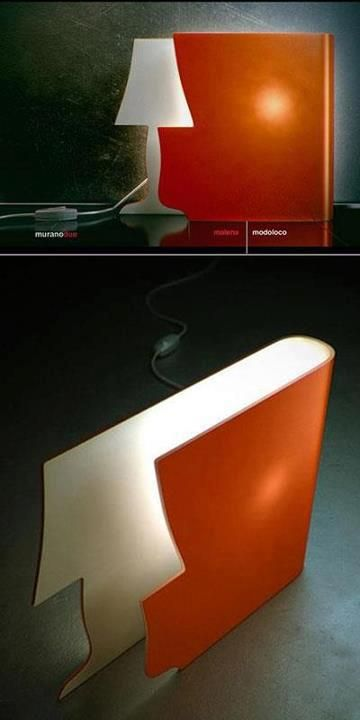 What an amazing design concept!  By adding this one item, you add what appears to be a traditional lamp, a burst of color, and a conversation piece.