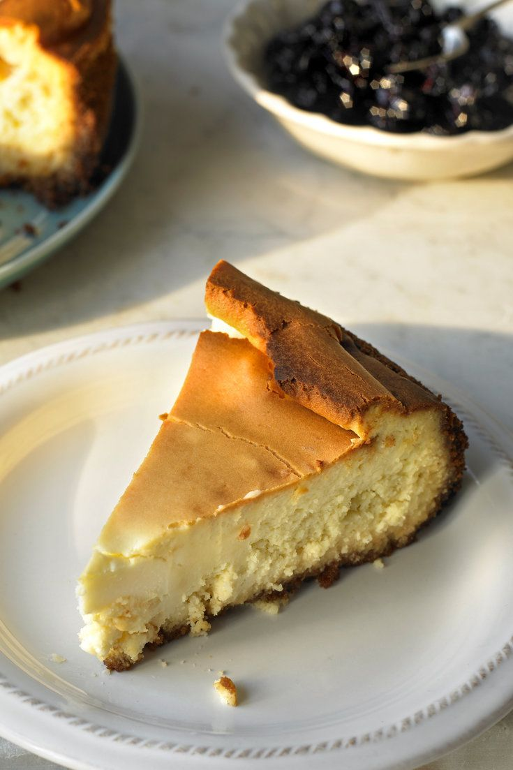 Not really a New York cheesecake — there's no lemon (although there could be) — this is an all-American cheesecake of the big, beautiful, lush and creamy variety, the kind that causes gasps of delight when you bring it to the table and sighs of satisfaction when you and your guests savor bite after bite. (Photo: Michael Kraus for The New York Times)