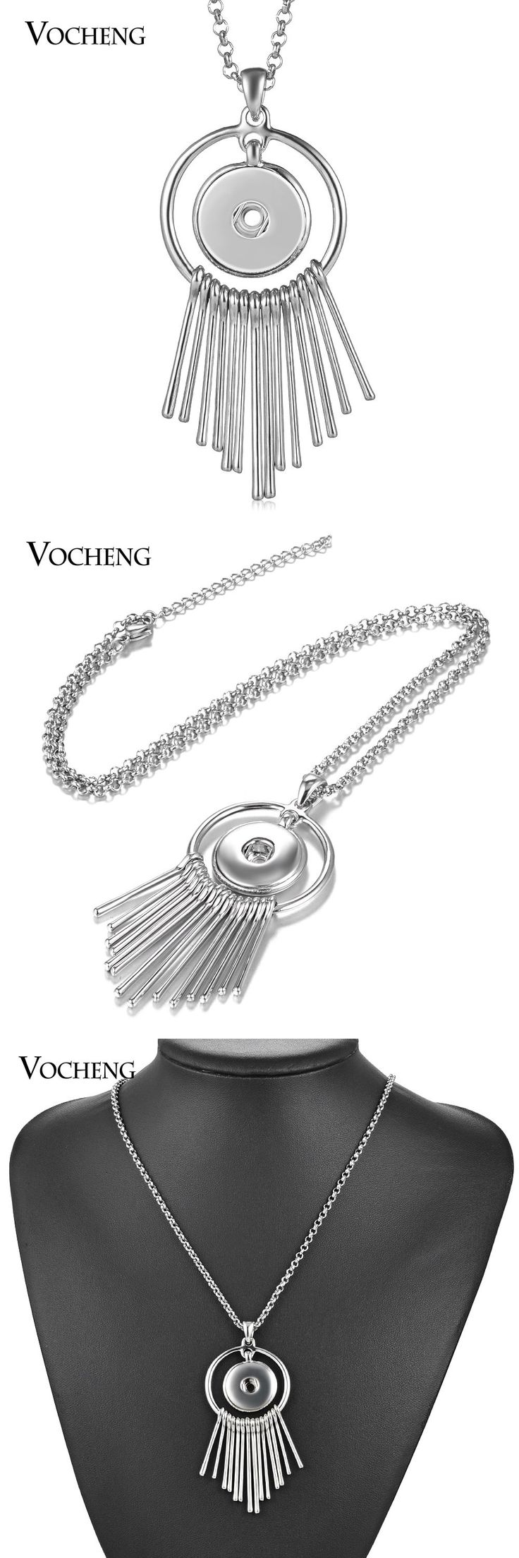 Mixed Lots 64511: 10Pcs Lot Vocheng Tassels 18Mm Snap Jewelry Stainless Steel Chain Nn-611*10 -> BUY IT NOW ONLY: $32.52 on eBay!