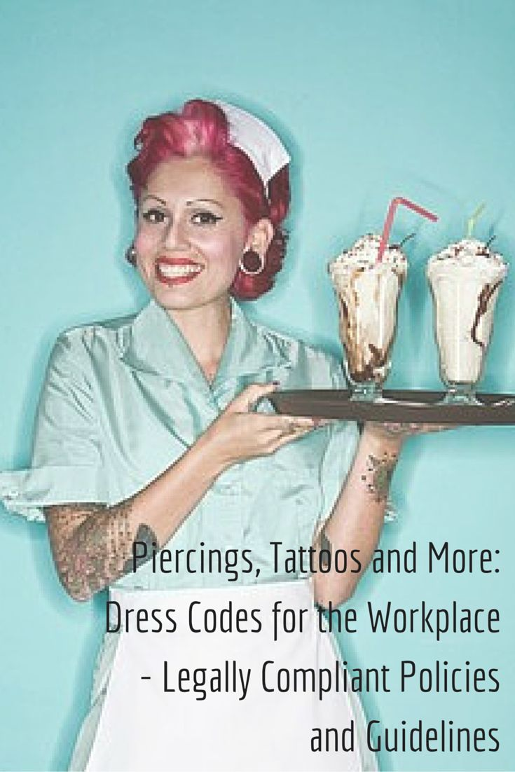 Dress code no tattoos in the workplace