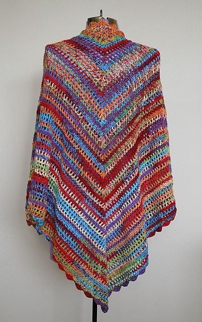 Ravelry: Country Cotton Shawl - free crochet pattern by Lion Brand Yarn - gor...