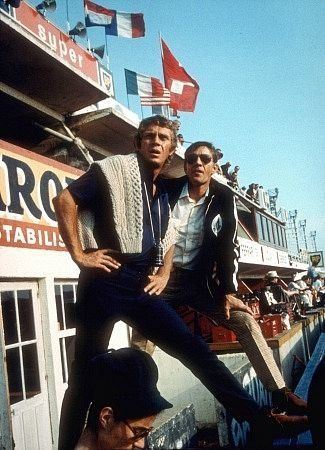 """""""Le Mans"""" Steve McQueen on location during filming 1971 Solar"""