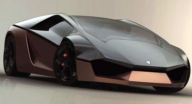 Lamborghini Ganador Supercar Design Study Goes Wedge