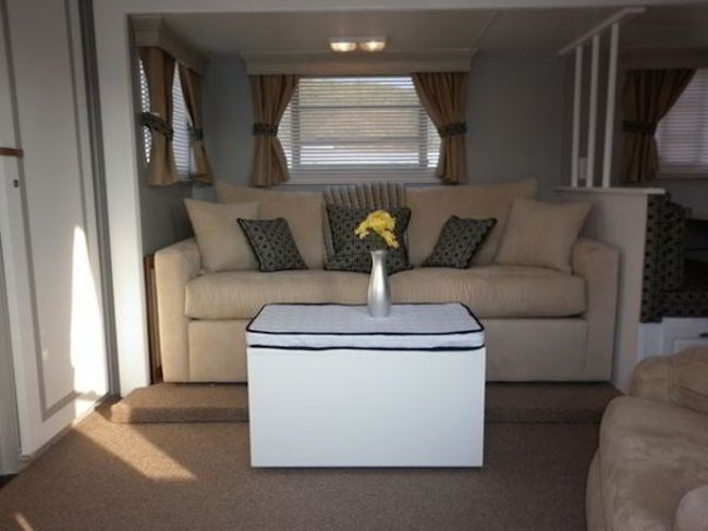 RV interior decor living area - second couch