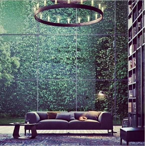 What a stunning library, @ Germany + vertical garden | ecoluxe.com.au