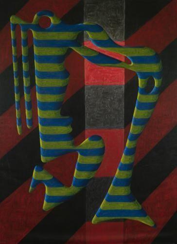 Peter Schuyff, Self Portrait, 1984