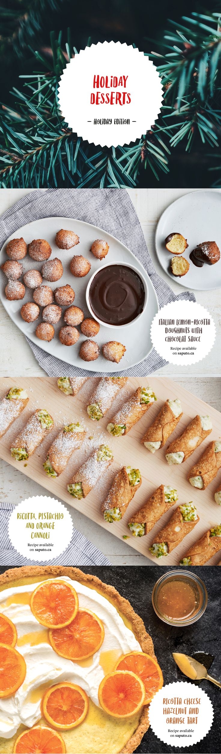 INGREDIENTS BY SAPUTO | Find the perfect final touch to your Christmas dinner with our vast selection of holiday dessert recipes. Cakes, gelato, donuts, pies … endless ideas await you!