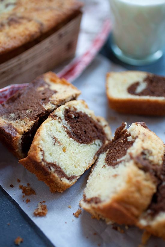 Buttery and chocolaty marble cake. This marble cake recipe yields moist and the most delicious marble cake! Easy marble cake that you can make at home.