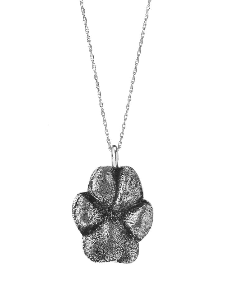 CUSTOM PET PAW PRINT NECKLACE! i want one of bentley! uncommongoods.com (http://www.uncommongoods.com/product/custom-pet-paw-print-necklace)