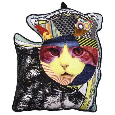 dwell - Cat print cushion - £29