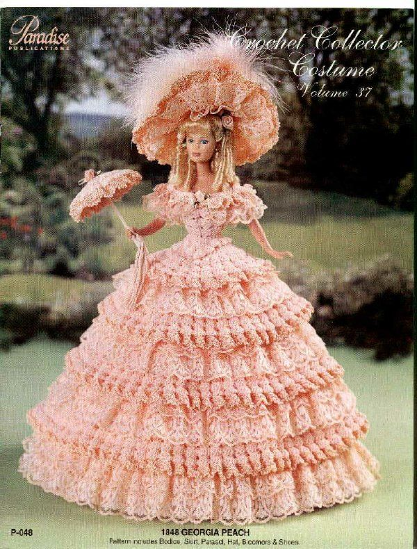 Barbie, Crochet Collector Costume Vol. 37 pattern http://knits4kids.com/collection-en/library/album-view?aid=2171