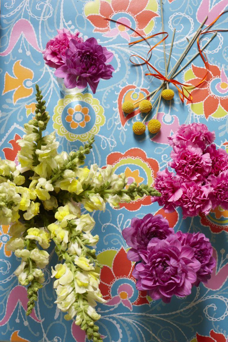 BOHO FLOWERS GOODHOMES MAGAZINE OCTOBER 2012 STYLING EMMA CLAYTON PHOTOGRAPHY JOANNA HENDERSON