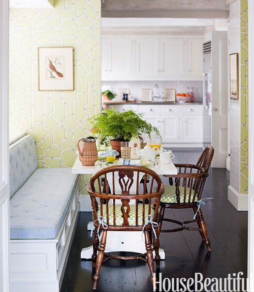 Painted Family Kitchen With Dining Nook: 108 Best Beautiful Interiors