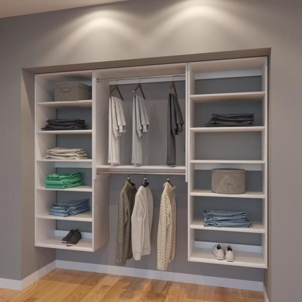 Modular Closets 7 5 Ft Closet Organizer System 90 Inch Style A The Clic Match Of Twin Shelf Towers And Some Short Hanging This Design Is Perfect For