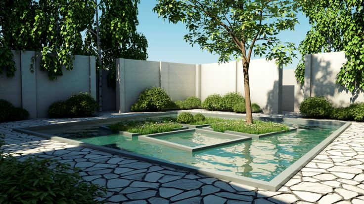 Enclosed watergarden inspired by north east south west for Garden design sketchup 8