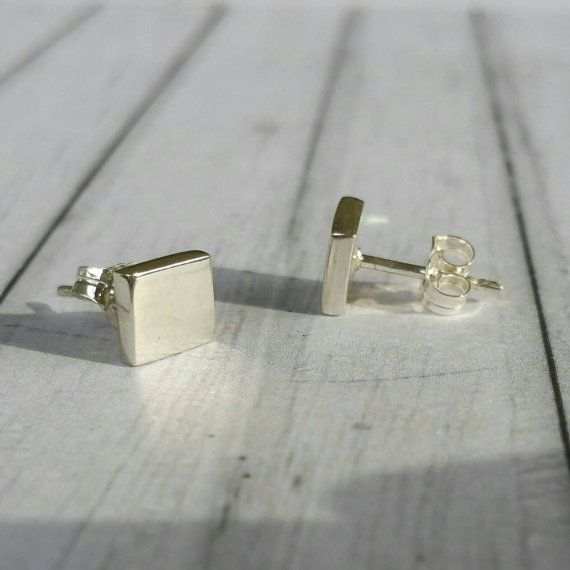 It's hip to be square sterling silver by JulesReadJewellery