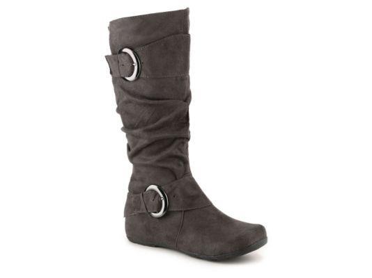 Women's Journee Collection Jester Wide Calf Boot - Grey