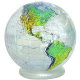 36 in. Inflatable Clear Topographic Globe
