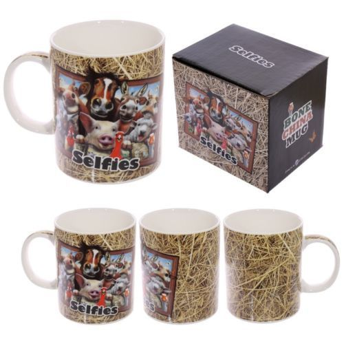Shop today for Fun Animal Selfie Howard Robinson New Bone China Mug - Farm by weeabootique !
