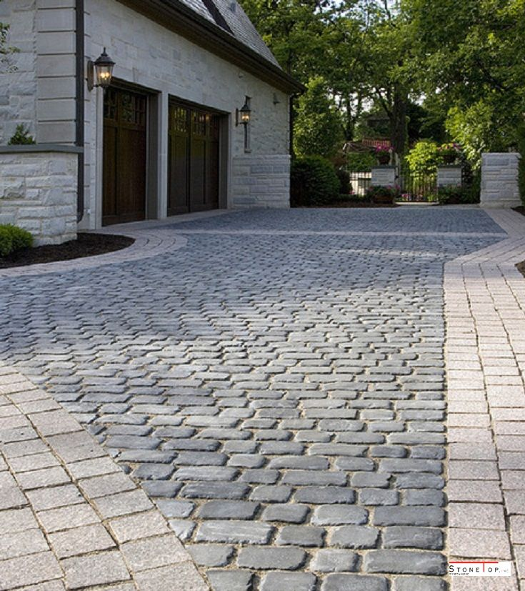 These are one of the stones types of Cobble stone pavers installation out of the home in the garden lawn