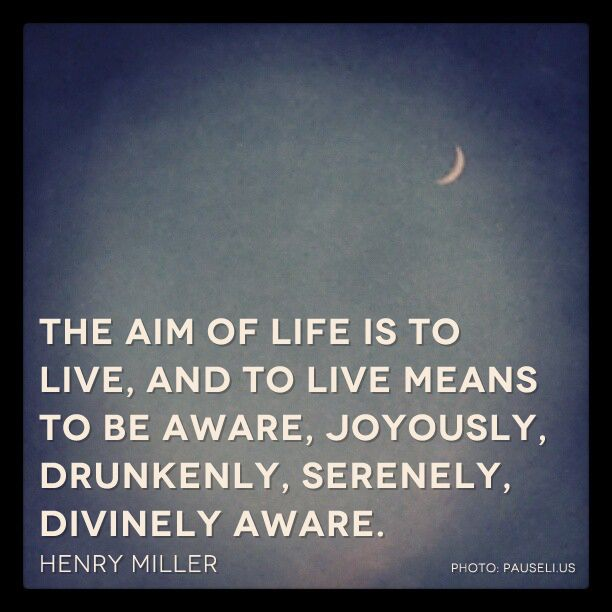 Henry Miller Quote: The aim of Life. Your own brand of Happy
