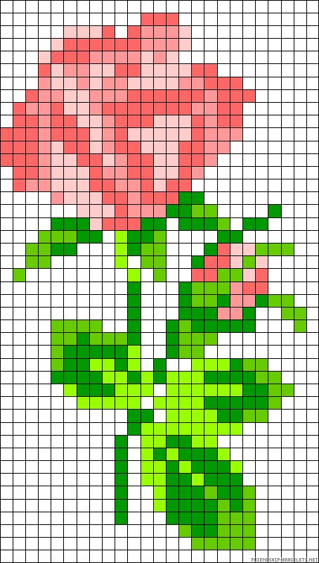 a stem of roses cross stitch - friendship-bracelets.net