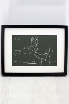 Personalised Continuous Line Print - Created from your Photograph