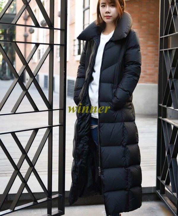 90 White Duck Down Jacket Womens Winter Full Length Hooded Parka Puffer Coat Sz Jackets Winter Jackets Women Down Jacket