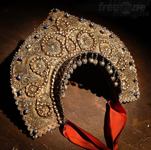 Russian Kokoshnik ancient Shamanic headdress are the roots of these bridal head wear