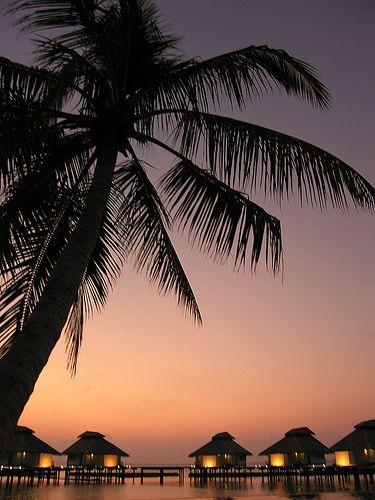 Maldives - sunset time