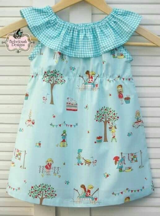 Ruffle peasant dress