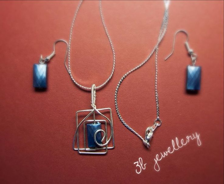 #blue #simple #elegance ... who could resist? #3bjewellery #wirewrapping #beginner