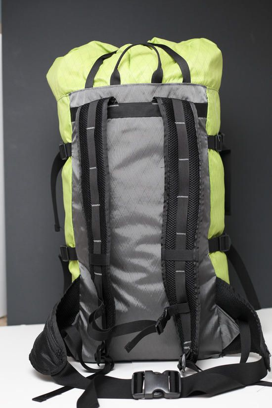 Back view of pack