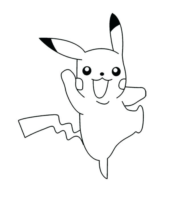 Simple Pikachu Coloring Pages Ideas For Children   Pikachu ...